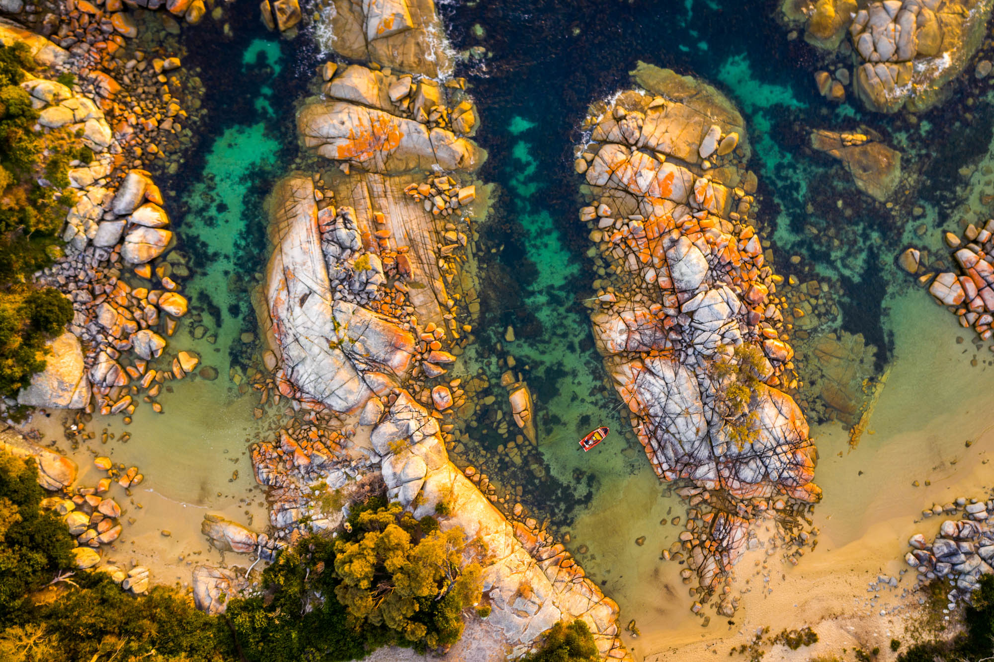 Bay of Fires From Above